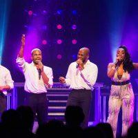 Brandon Delagraentiss, Clayton Peroti, Jorginho Paunussa en Laise Sanches, Soul of Motown in het Rai theater Amsterdam