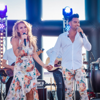 Rachel Kramer & Deon Leon bij Salsa Beach club Rockanje 08-07-2018
