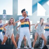 Deon Leon bij Salsa Beach club Rockanje 08-07-2018